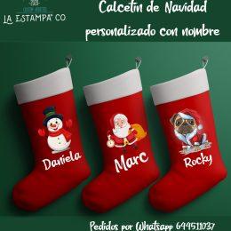 Calcetin de navidad personalizado con nombre