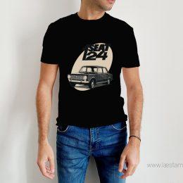 camiseta retro para hombre vintage seat 124 coche antiguo