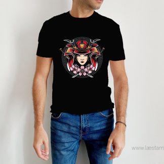 camiseta chico hombre samurai japon friki japonesa