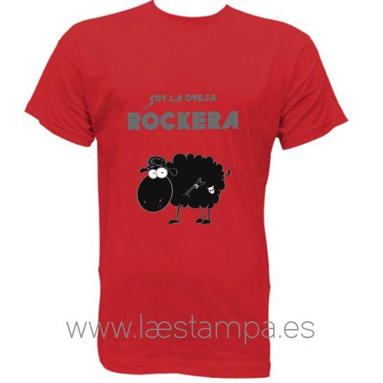 soy la oveja rockera camiseta para chica sarcasmo humor original la estampa ilustracion