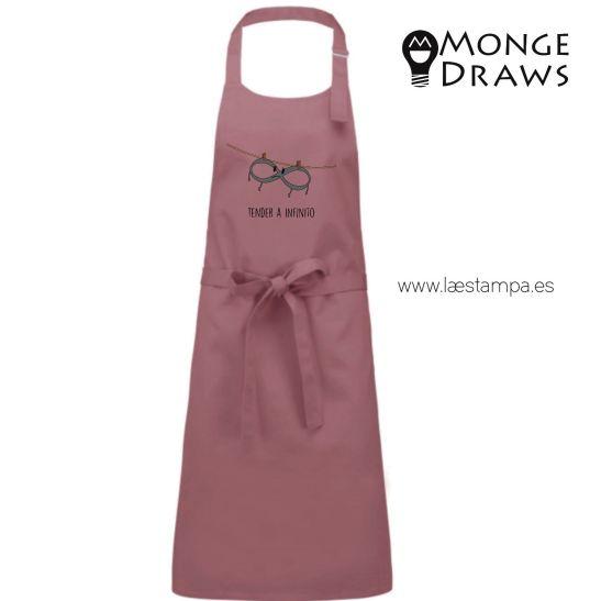 tender a infinito delantal de cocina diseño de mongedraws delantal humor regalos originales