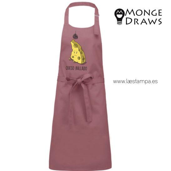 queso rallado delantal de cocina de mongedraws delantal humor regalos originales