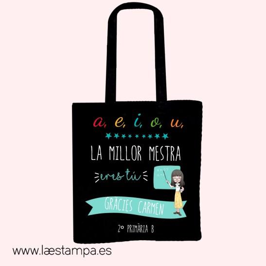 bolsa profe personalizada tote bag natural català