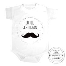 body bebe little gentleman personalizado