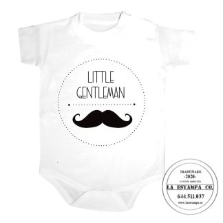 body bebe little gentleman personalizado