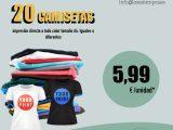 20 camisetas personalizadas con impresión directa