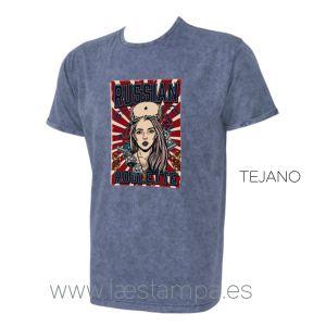 camiseta hombre unisex russian roulette