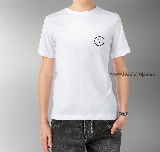vemo camiseta unisex personalizada con tu inicial de estilo minimalista