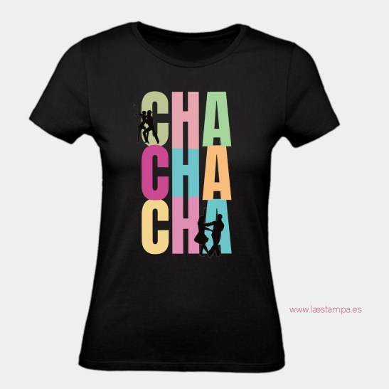 camiseta entallada mujer negra chachachá