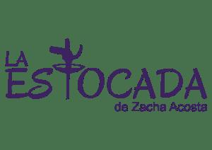 Logo La estocada violeta / Zacha Acosta