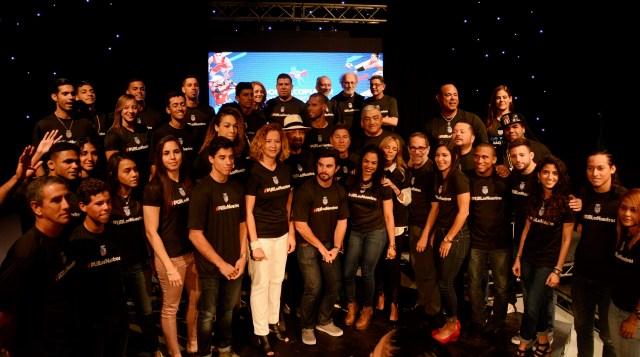 Atletas y artistas de la campaña #PURLosNuestros. (M. Rosado COPUR)