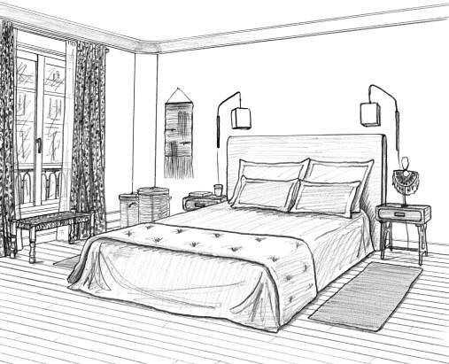 dessin chambre parents 1