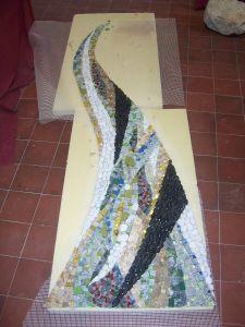 pose source de vie laetitia gauthier mosaique monument art funéraire