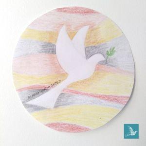 maquette colombe de la paix en mosaïque