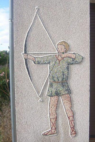 mosaïque décorative pour mur de jardin extérieur