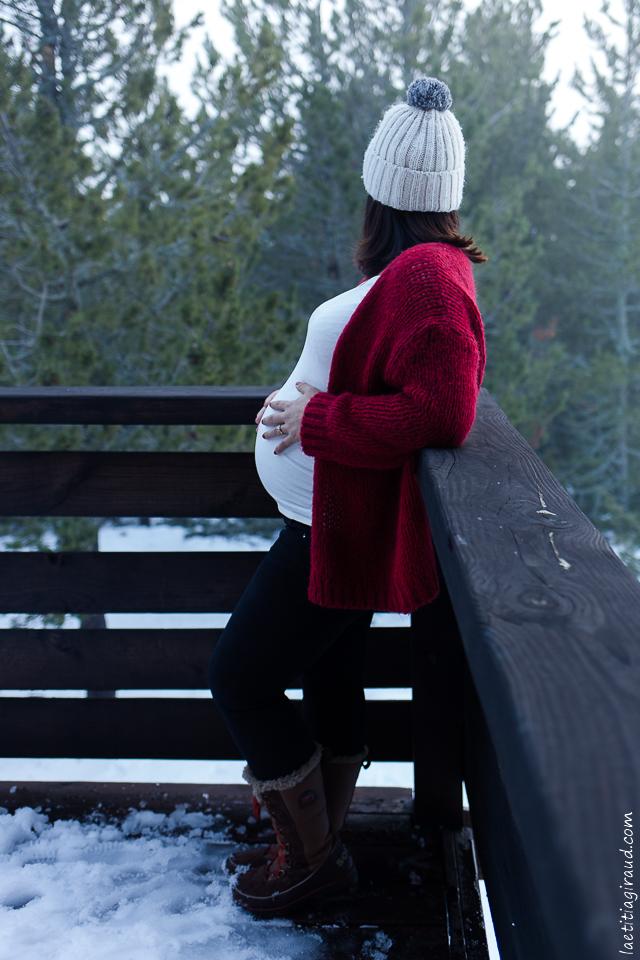Photo de grossesse au Ventoux