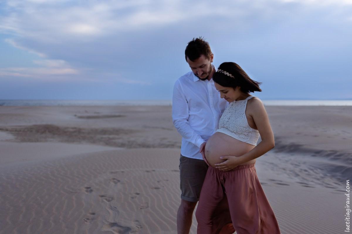 grossesse à la plage de l espiguette