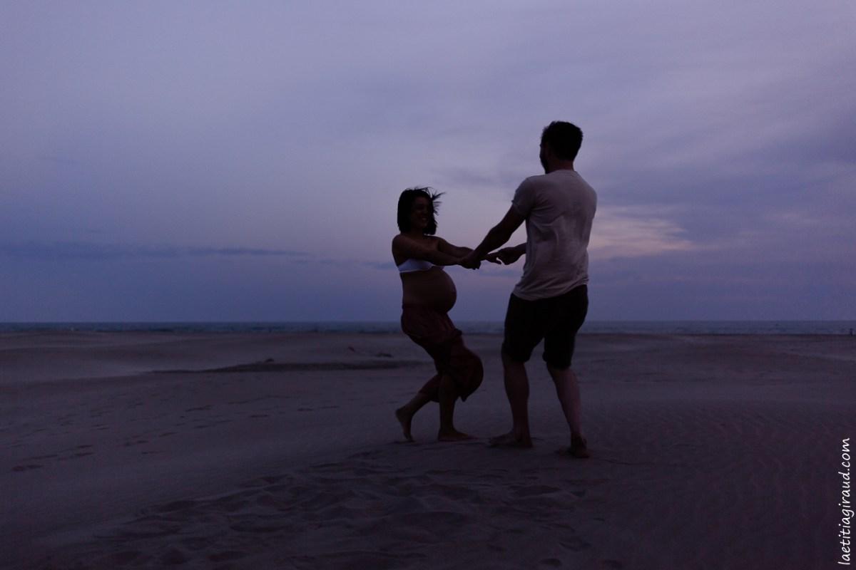 Séance grossesse plage