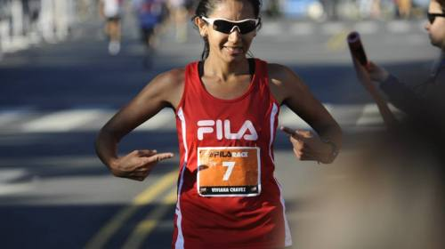 Viviana Chávez triunfó en el Maratón UNICEF durante su preparación para #Rotterdam