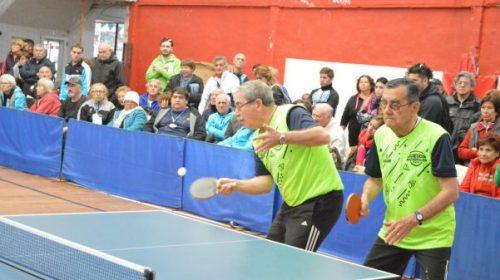 Juegos Evita Adulto Mayor: Dupla de Oro sanjuanina en Tenis de Mesa  masculino.