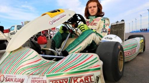 Karting: Juan Cruz Roca entrena en Zárate