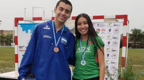 Pablo Polican y Julieta Molina se subieron al podio en el primer día del Nacional de Atletismo