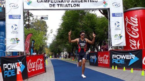 Luciano Frías y Lautaro Delgado encabezaron las alegrías sanjuaninas en el Argentino de triatlón