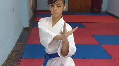 Celeste Núñez, la pequeña karateca que es campeona argentina y sueña con representar al país