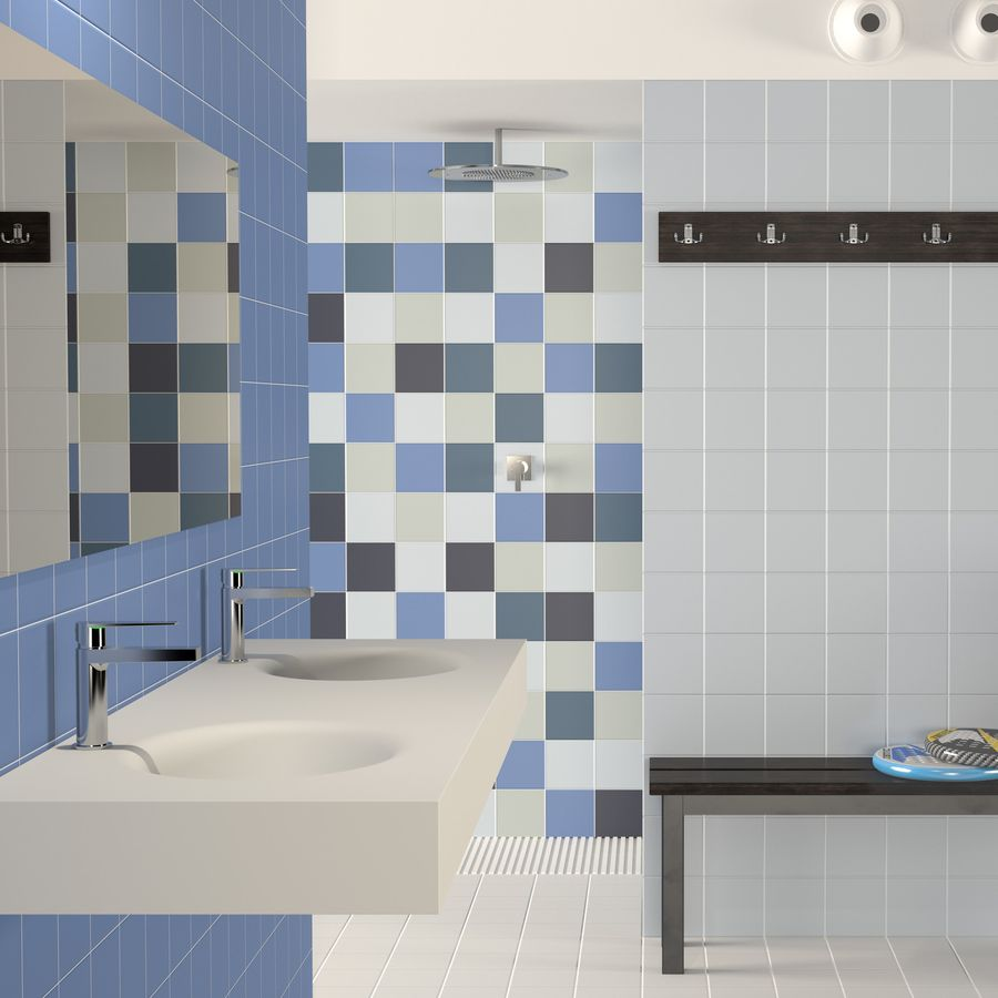 rainbow celeste 150 x 150 mm per m2 tile is perfect for bathrooms or kitchens for walls or floors bathroom tiles are perfect to