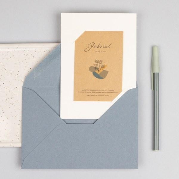 enveloppe bleu pastel faire-part