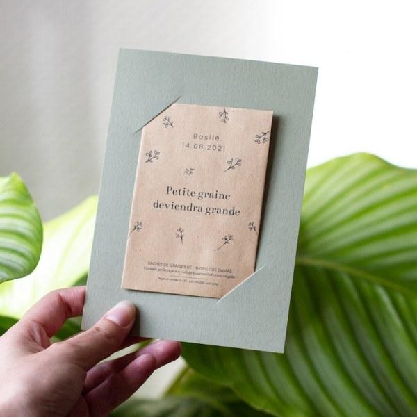 carte de remerciement naissance à planter