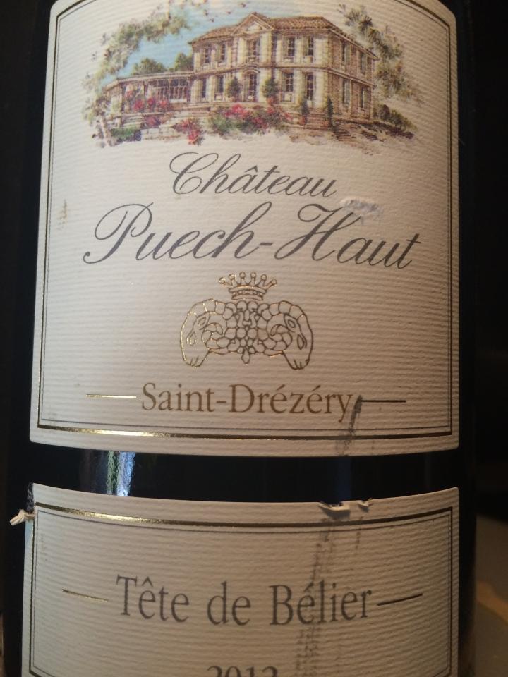 Château Puech Haut - Tête de Bélier 2012 - Rouge