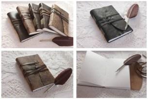 1 carnets de voayge en cuir