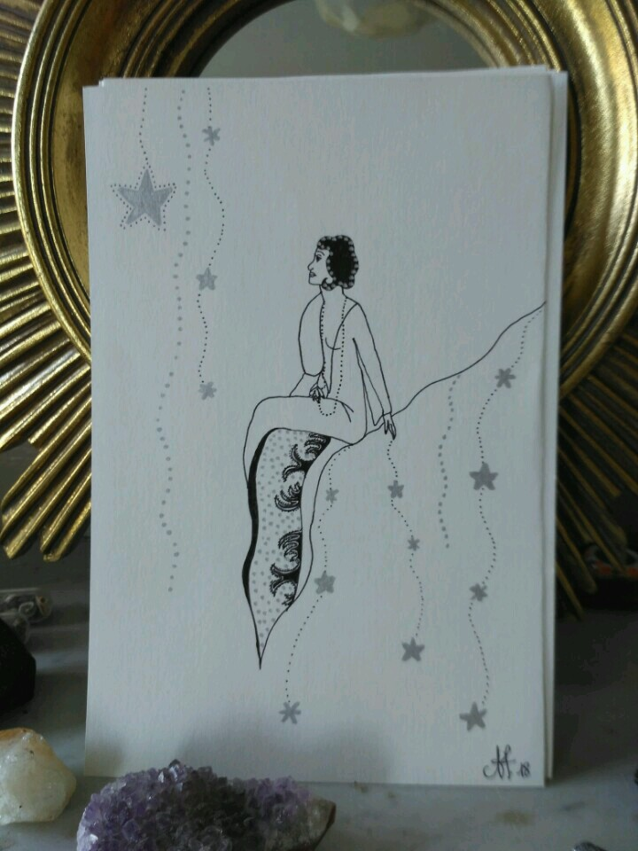 inktober-femme-étoiles