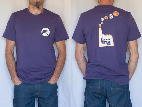 Tee-shirt homme violet