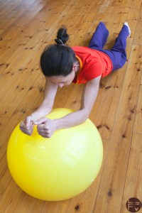 swiss ball-core-training-exercise