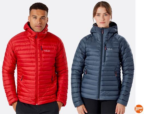 microlight alpine jacket rab doudoune escalade calendrier avent