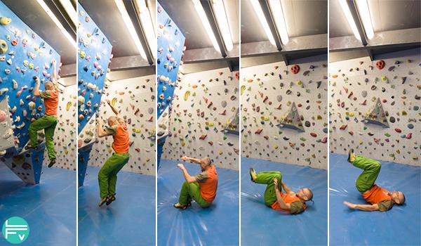 saut-sécurité-salle-bloc-escalade-reception-tapis-matelas