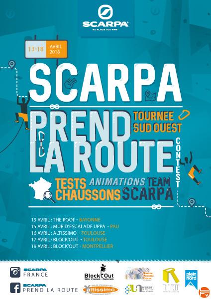 escalade-tournée-ScARPA-PRENDLAROUTE SUD OUEST-chaussons