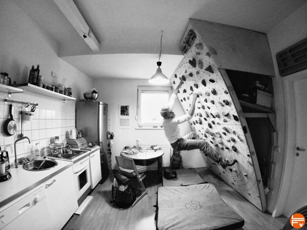 entrainement mur -escalade-cuisine