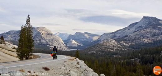 Noémie sur fond de paysage typique de Californie vers le Yosemite