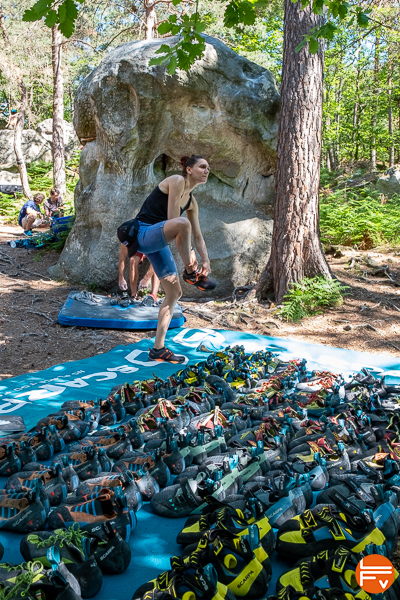 chaussons scarpa bleau is coming 2019 - fontainebleau escalade