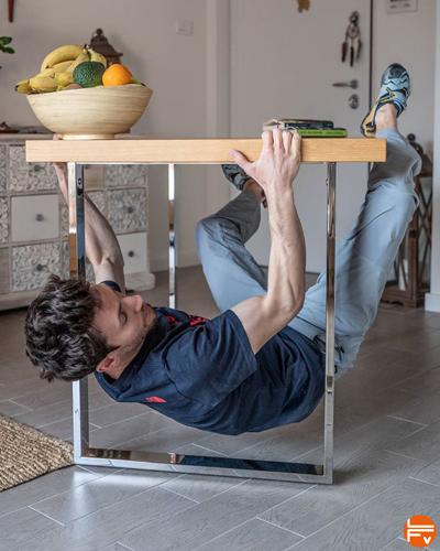 confinement covid-19 entrainement escalade table