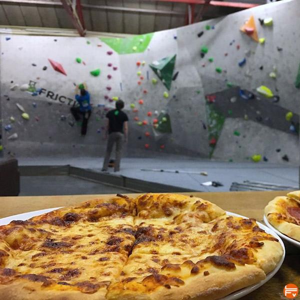 pizza escalade salle de bloc alimentation saine entrainement