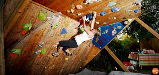 bouldering and traing homewall rock-climbing-wall-for-backyard-1