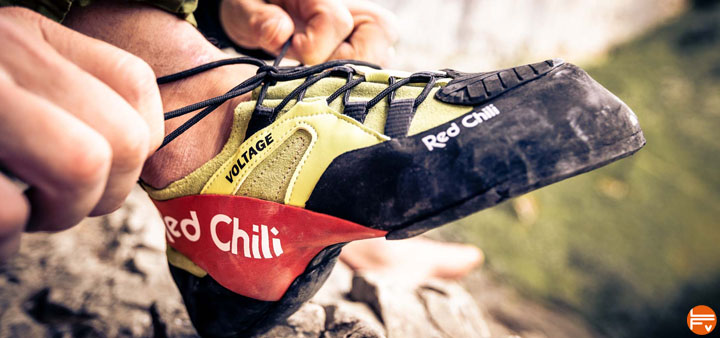 red chili voltage chaussons escalade bloc falaise velcro lacets test review climbing shoes