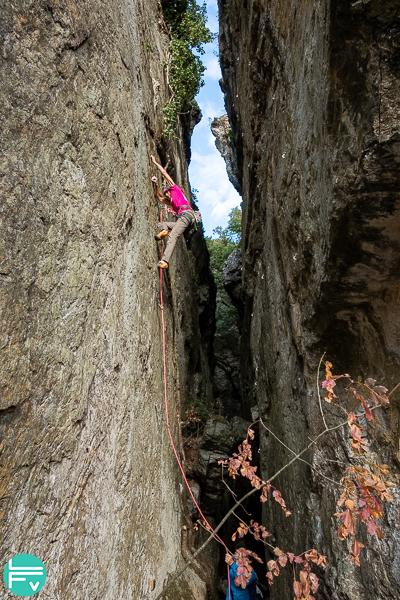 escalade en falaise grimper
