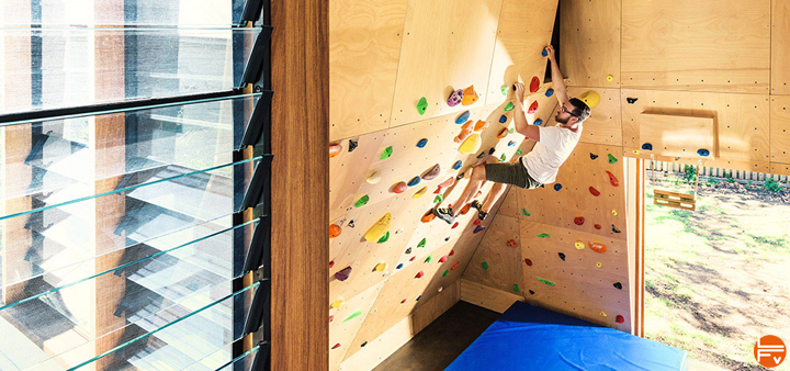 workout climbing training on a woody