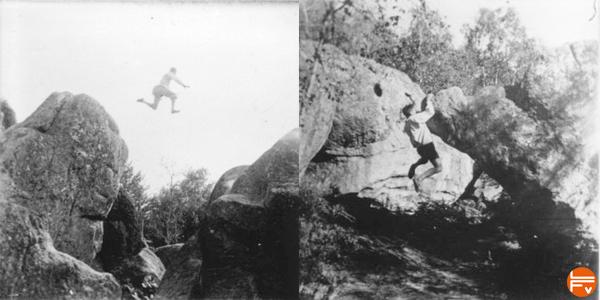 pierre allain pionnier escalade fontainebleau
