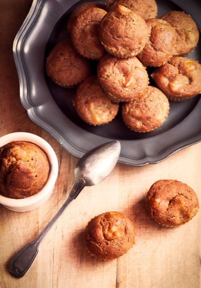 Muffins-banana bread pomme cannelle